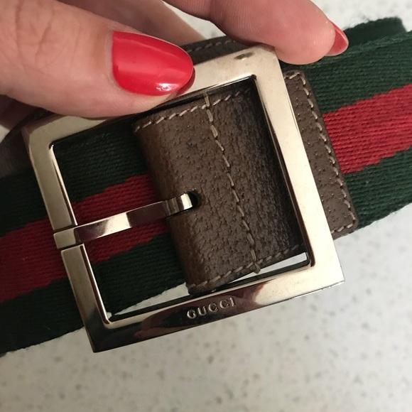 3e18b230f Gucci Accessories | Authentic Red Green Stripe Belt | Poshmark